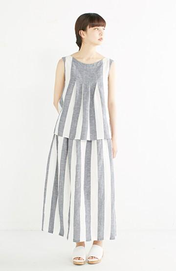 haco! てとひとて miho umezawa ストライプツーピースドレス <ホワイト×ブルー>の商品写真