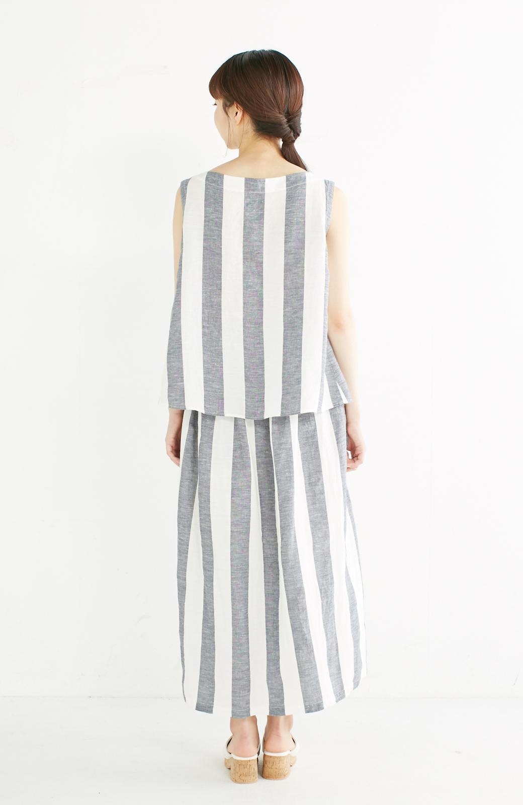 haco! てとひとて miho umezawa ストライプツーピースドレス <ホワイト×ブルー>の商品写真9