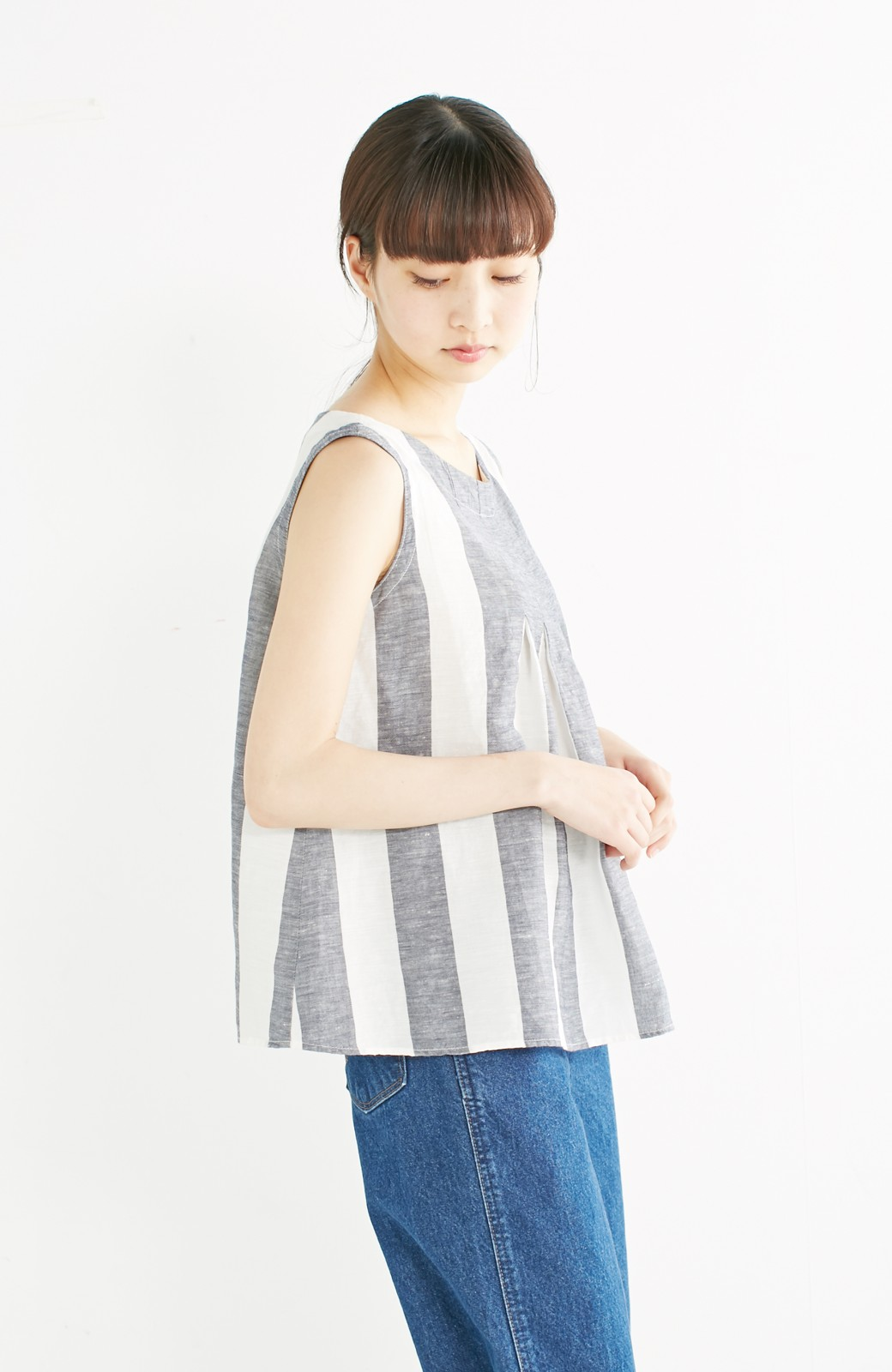 haco! てとひとて miho umezawa ストライプツーピースドレス <ホワイト×ブルー>の商品写真11