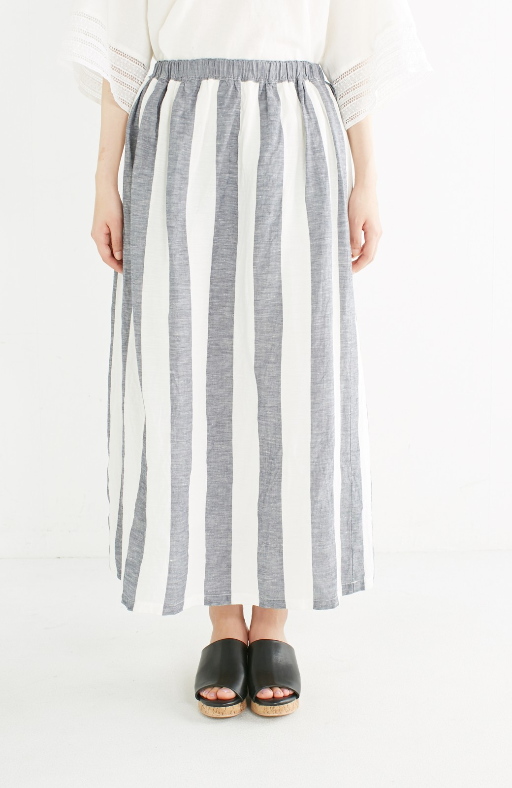 haco! てとひとて miho umezawa ストライプツーピースドレス <ホワイト×ブルー>の商品写真14