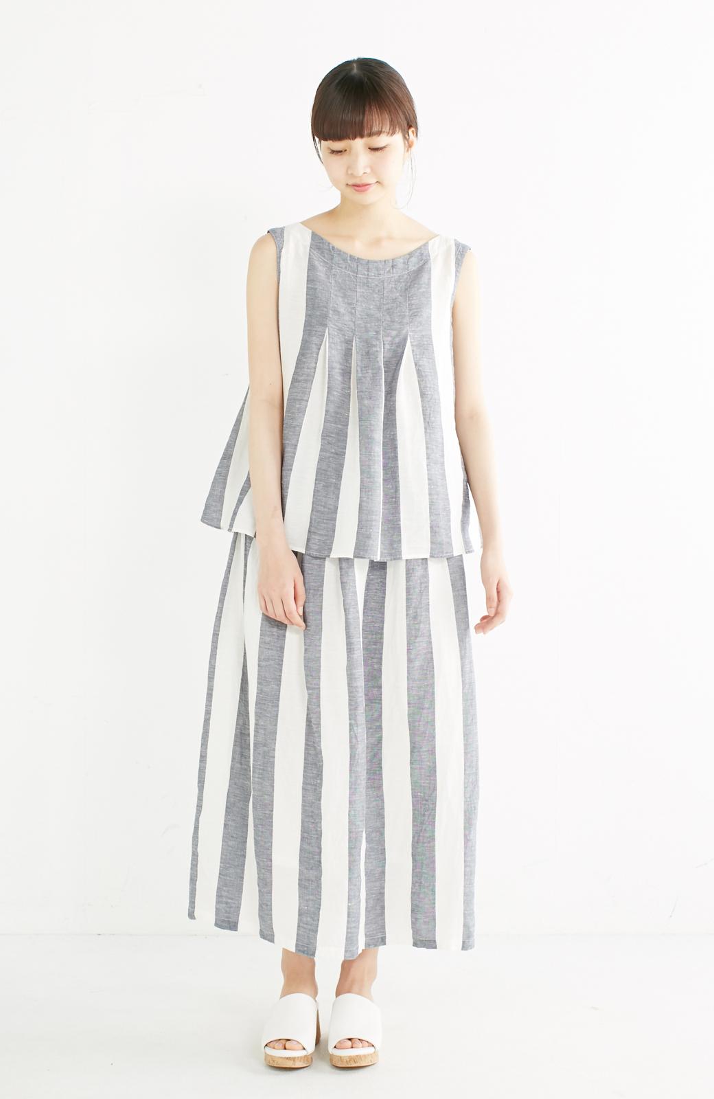 haco! てとひとて miho umezawa ストライプツーピースドレス <ホワイト×ブルー>の商品写真5