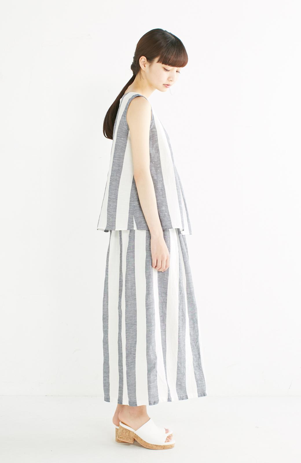 haco! てとひとて miho umezawa ストライプツーピースドレス <ホワイト×ブルー>の商品写真7