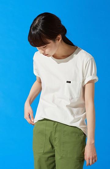 haco! Lee パック入りクルーネックポケットTシャツ <ホワイト>の商品写真