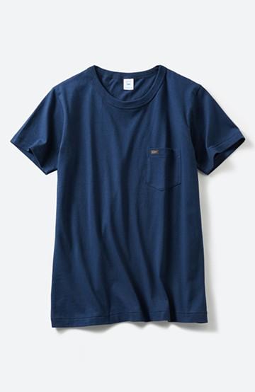 haco! Lee パック入りクルーネックポケットTシャツ <ネイビー>の商品写真