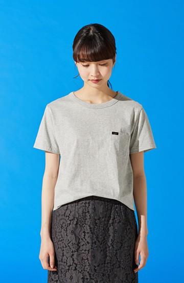haco! Lee パック入り杢カラーのプチポケットTシャツ <杢グレー>の商品写真
