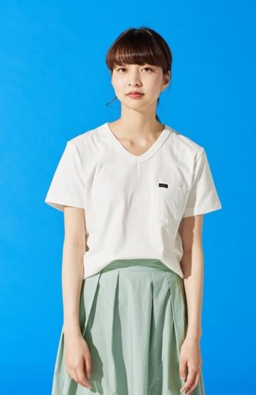 haco! Lee パック入りプチポケットVネックTシャツ <ホワイト>の商品写真