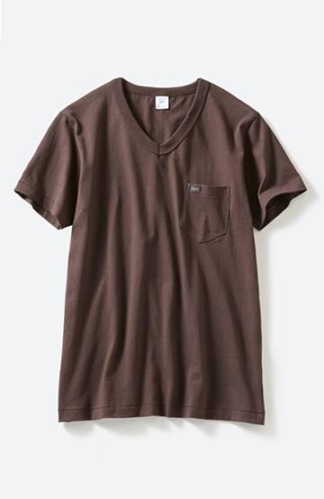 haco! Lee パック入りプチポケットVネックTシャツ <ブラウン>の商品写真