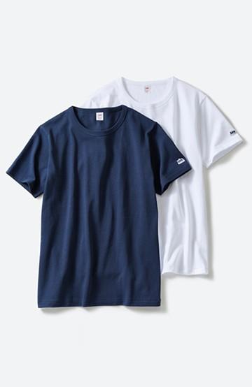 haco! Lee しっかり素材の便利な2色パック入りTシャツ <ネイビー>の商品写真