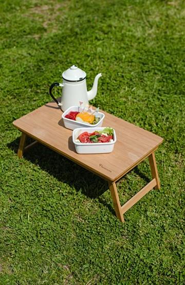 haco! バンブーテーブル <ベージュ>の商品写真