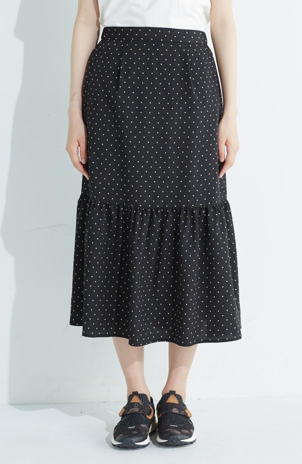 nusy 大人かわいい水玉ギャザースカート <ブラック系その他>の商品写真1