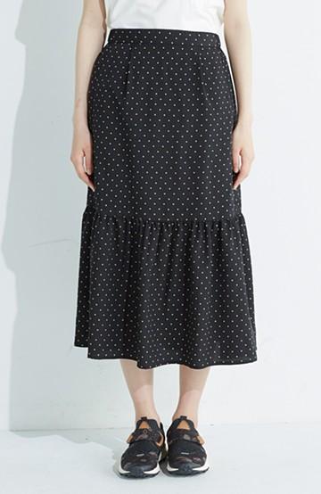 nusy 大人かわいい水玉ギャザースカート <ブラック系その他>の商品写真