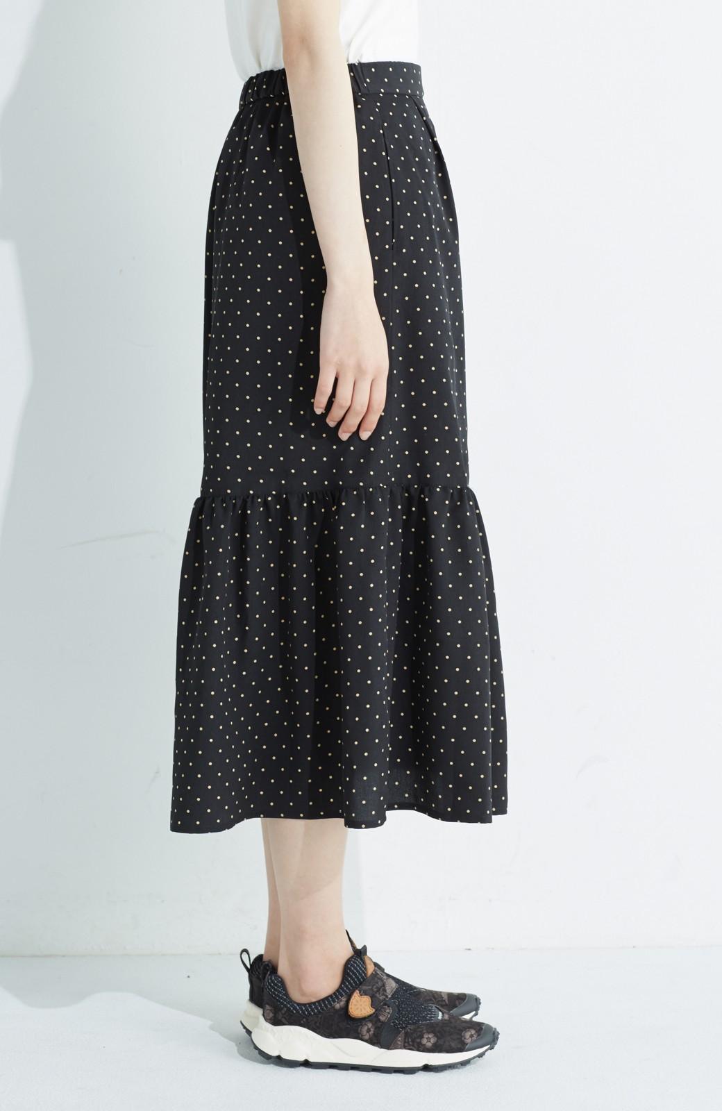 nusy 大人かわいい水玉ギャザースカート <ブラック系その他>の商品写真4