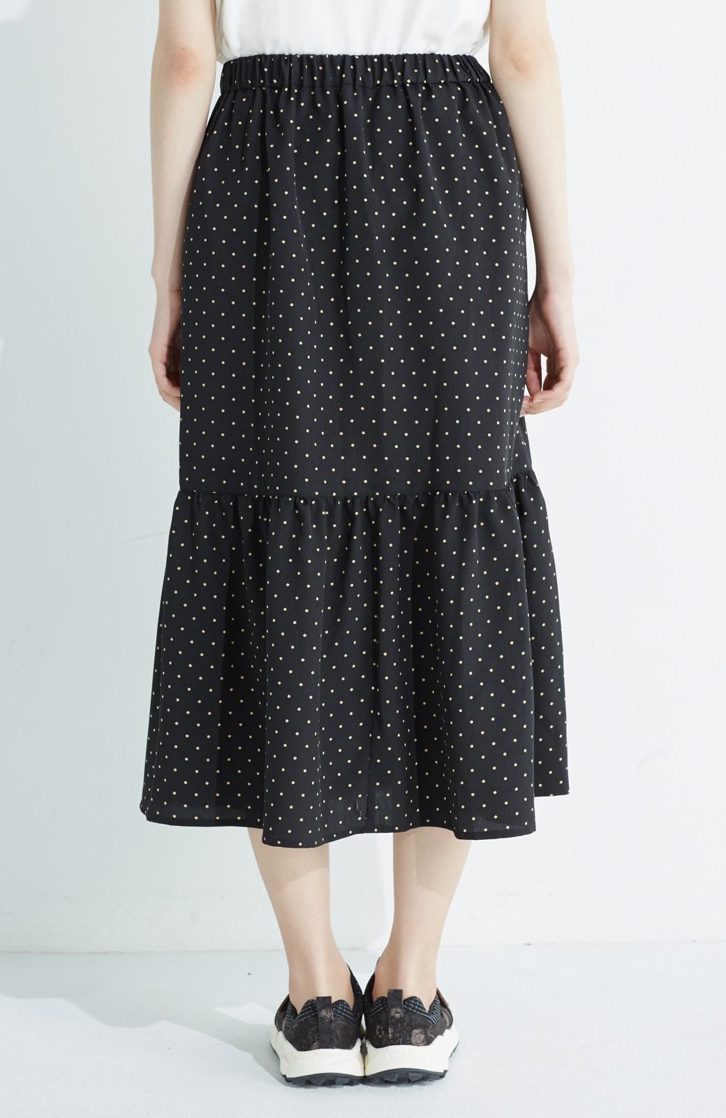 nusy 大人かわいい水玉ギャザースカート <ブラック系その他>の商品写真6