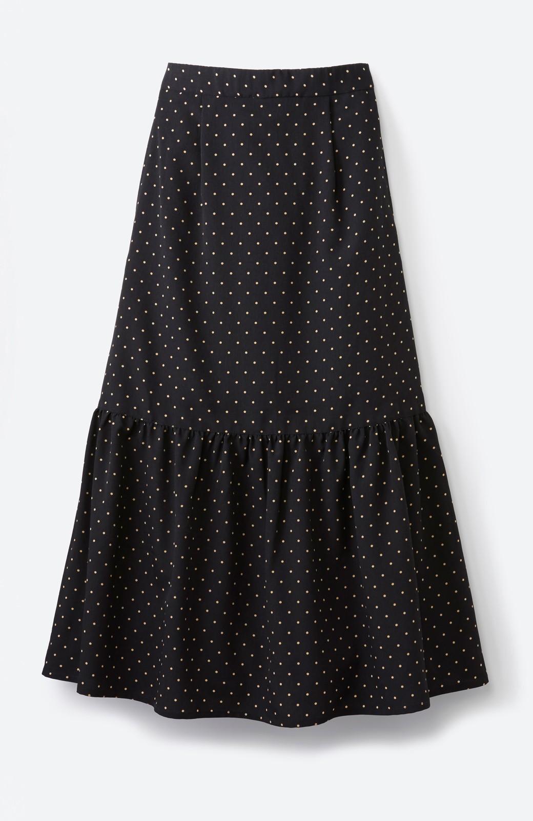 nusy 大人かわいい水玉ギャザースカート <ブラック系その他>の商品写真2
