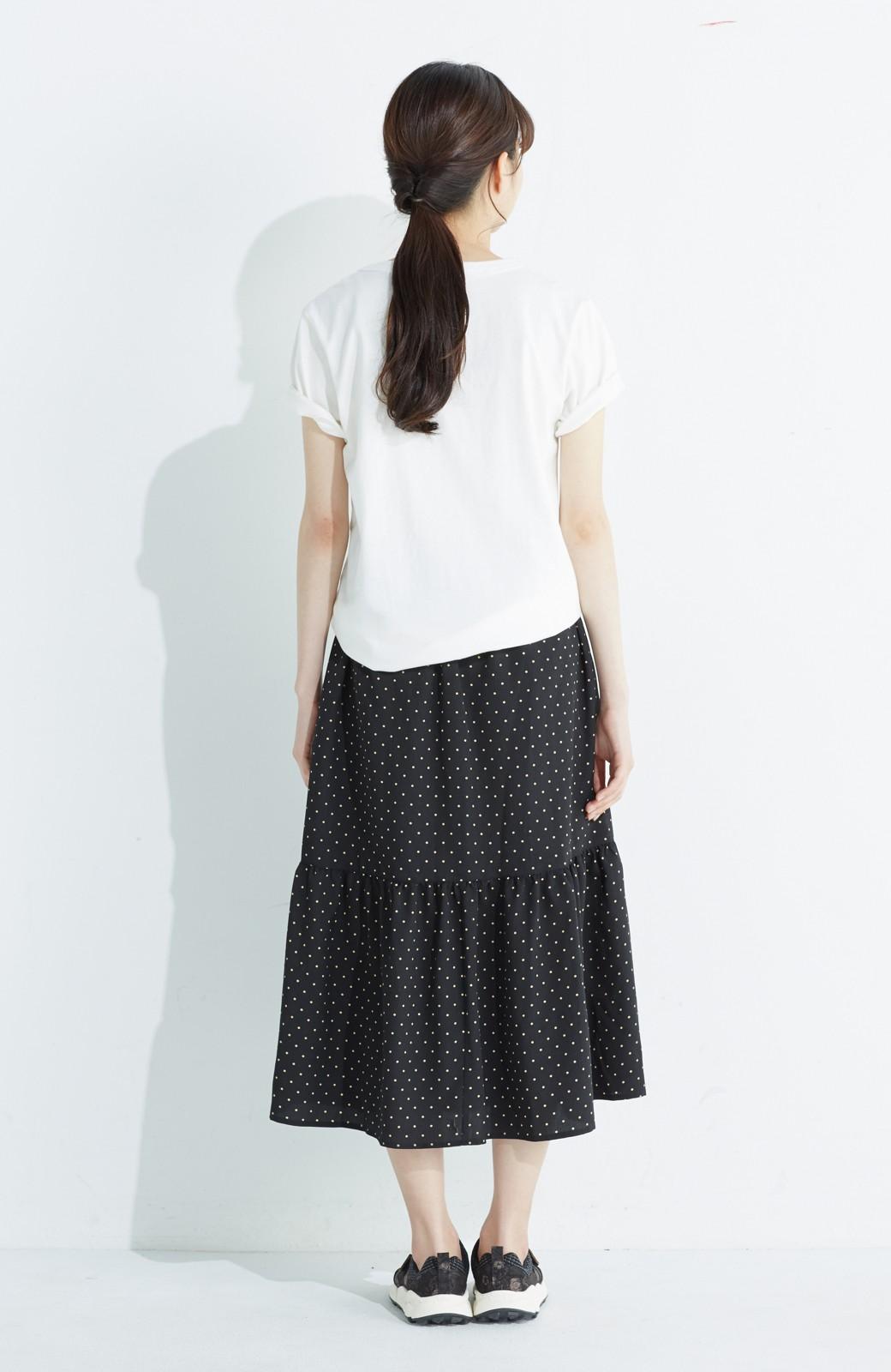 nusy 大人かわいい水玉ギャザースカート <ブラック系その他>の商品写真14
