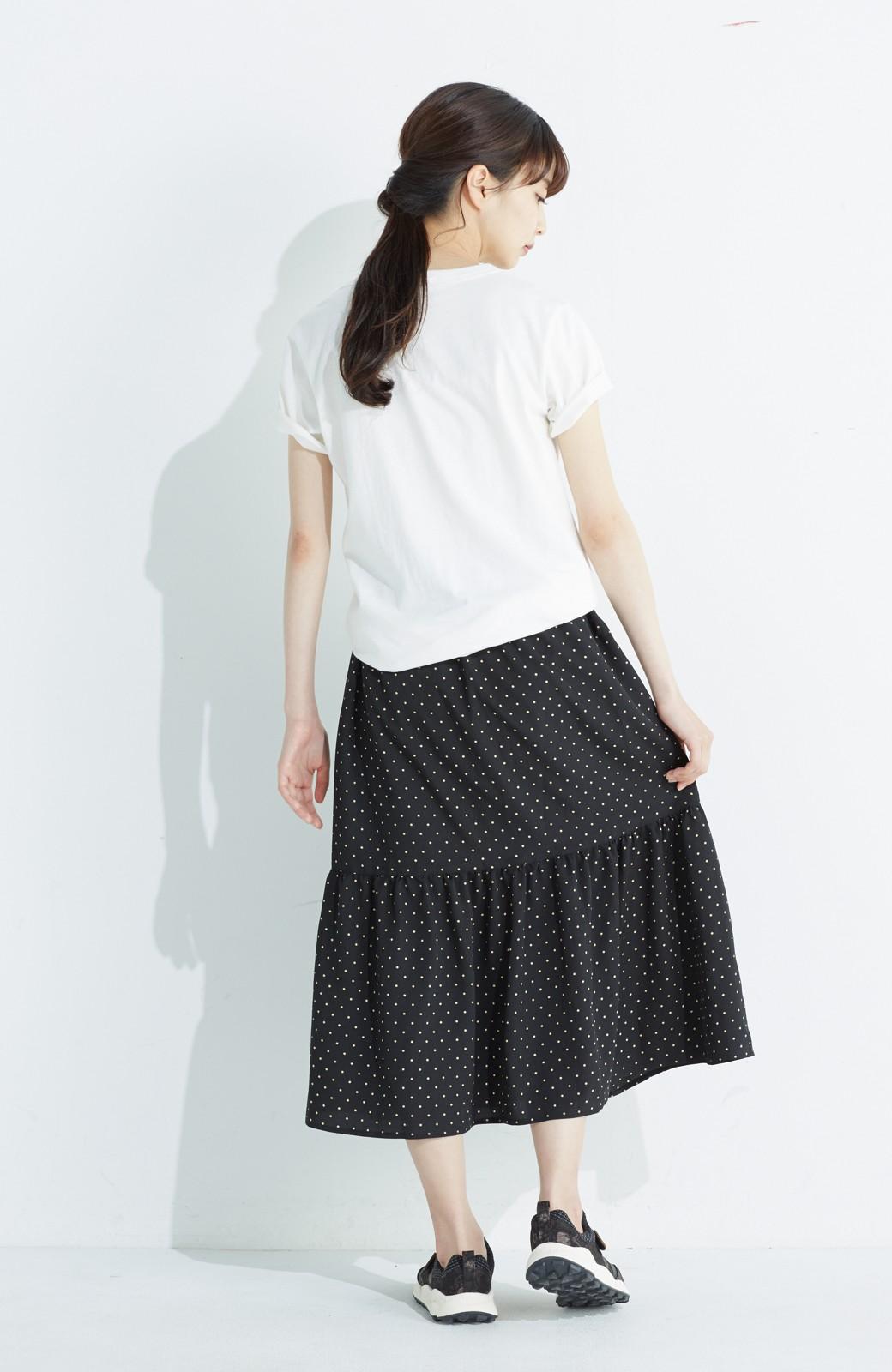 nusy 大人かわいい水玉ギャザースカート <ブラック系その他>の商品写真15