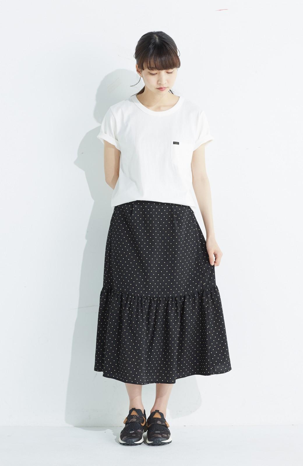 nusy 大人かわいい水玉ギャザースカート <ブラック系その他>の商品写真7