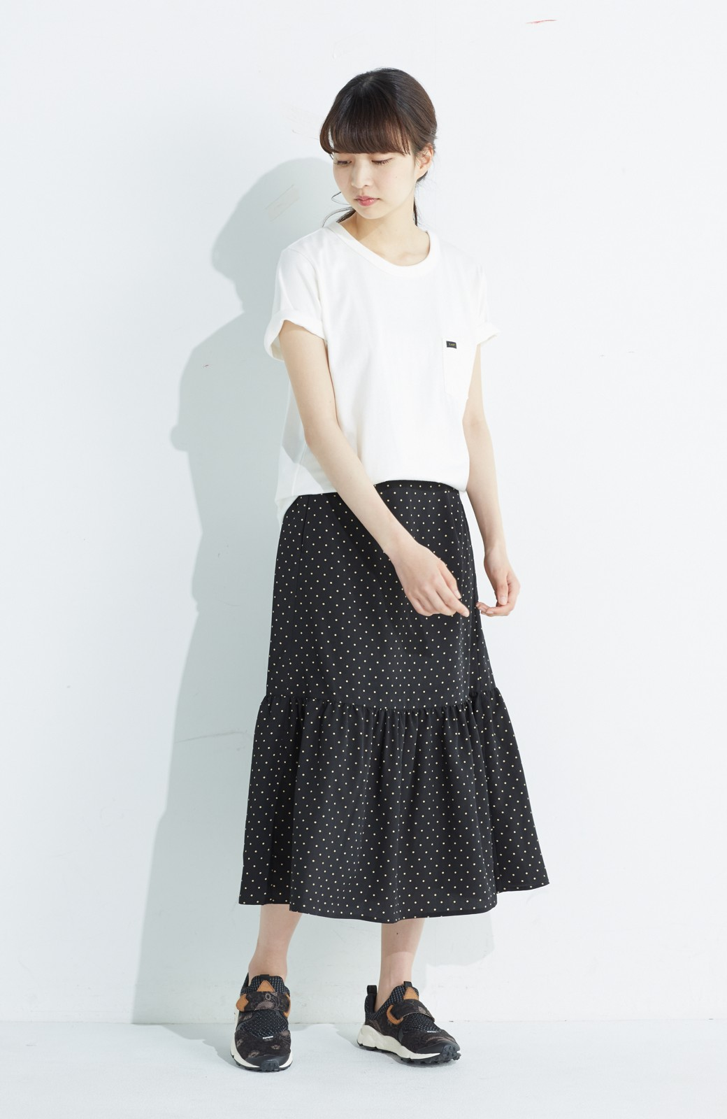 nusy 大人かわいい水玉ギャザースカート <ブラック系その他>の商品写真8