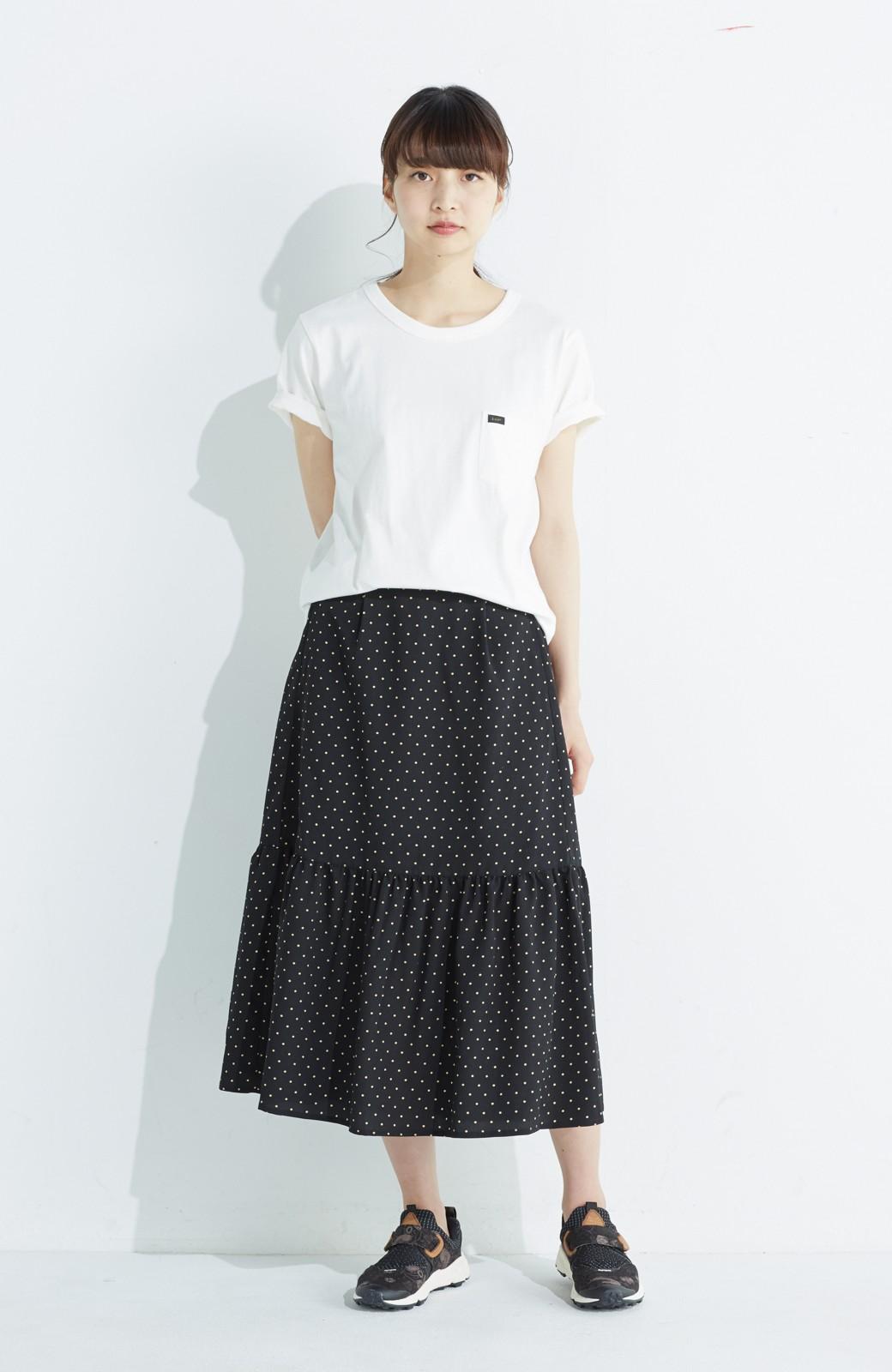 nusy 大人かわいい水玉ギャザースカート <ブラック系その他>の商品写真9