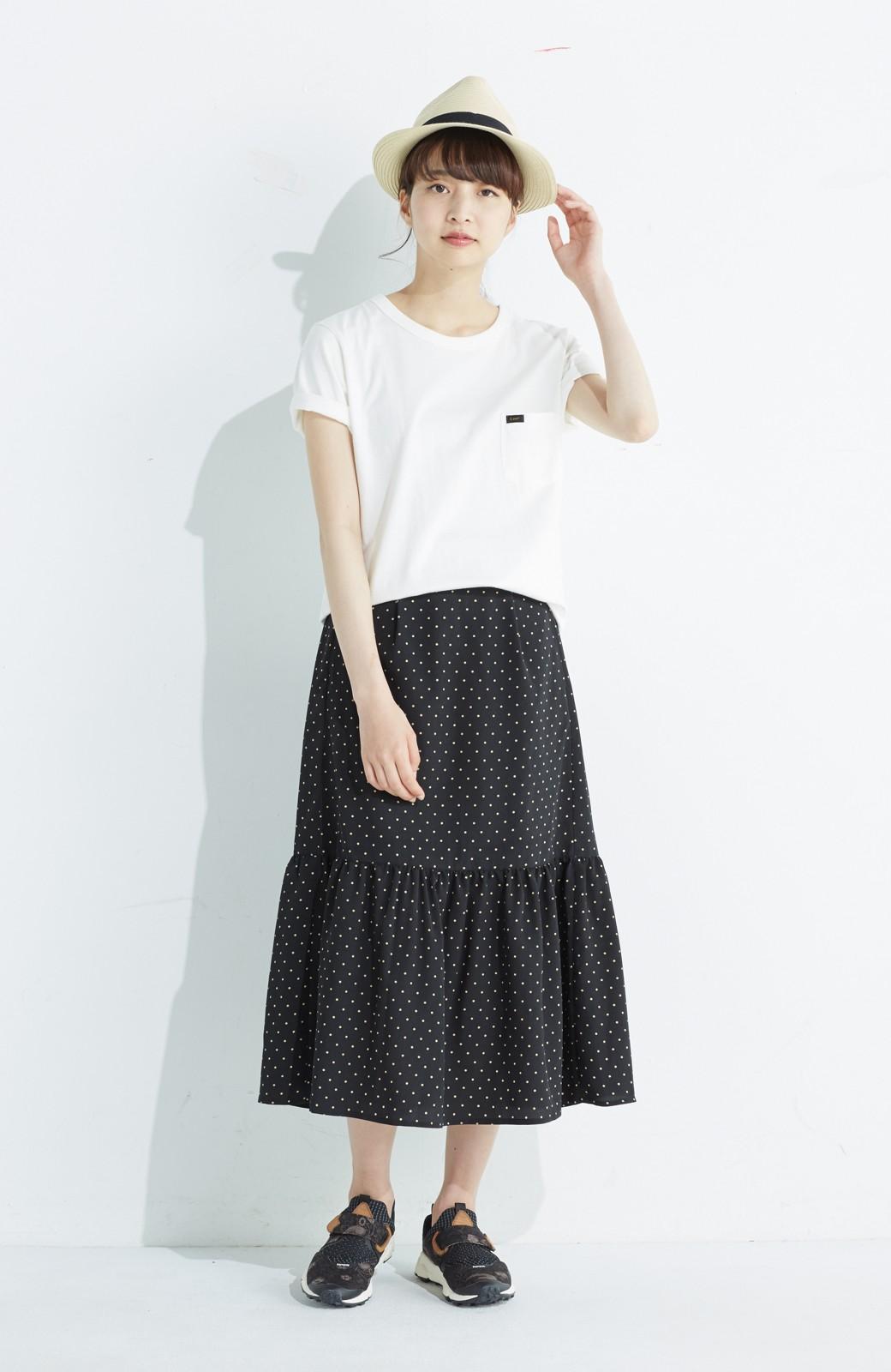 nusy 大人かわいい水玉ギャザースカート <ブラック系その他>の商品写真10