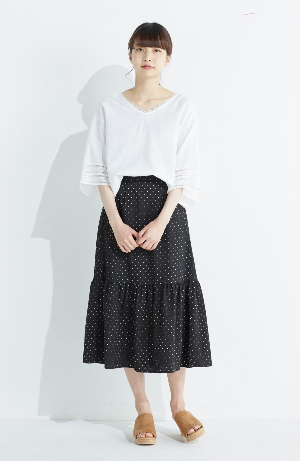 nusy 大人かわいい水玉ギャザースカート <ブラック系その他>の商品写真11