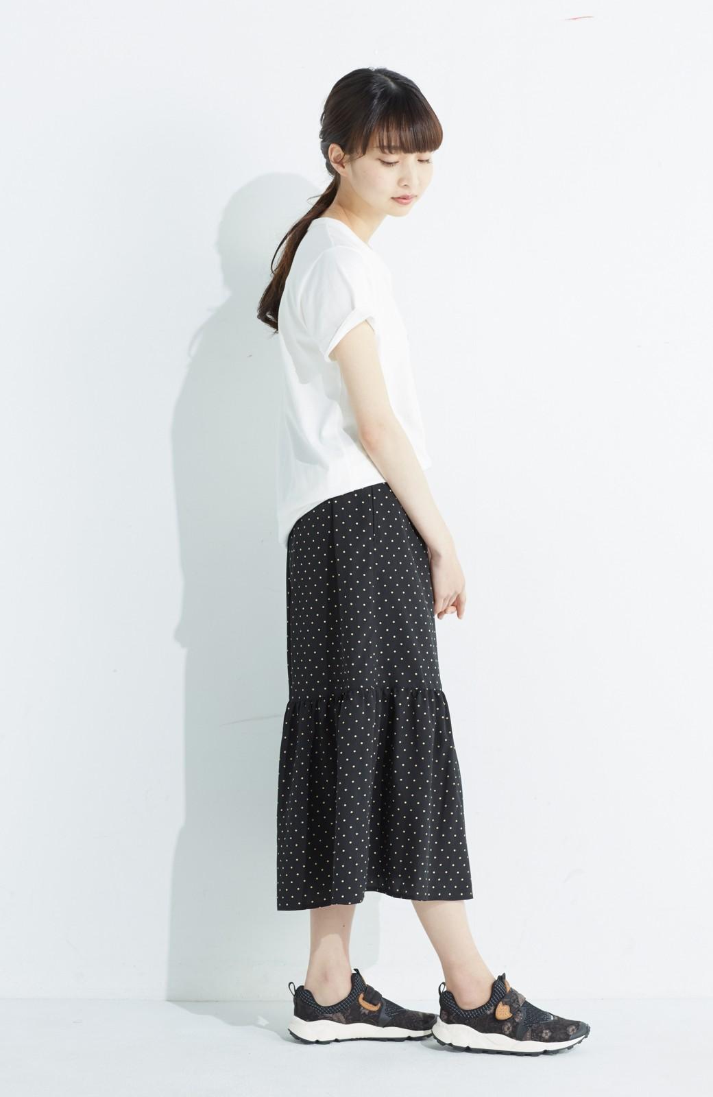 nusy 大人かわいい水玉ギャザースカート <ブラック系その他>の商品写真12