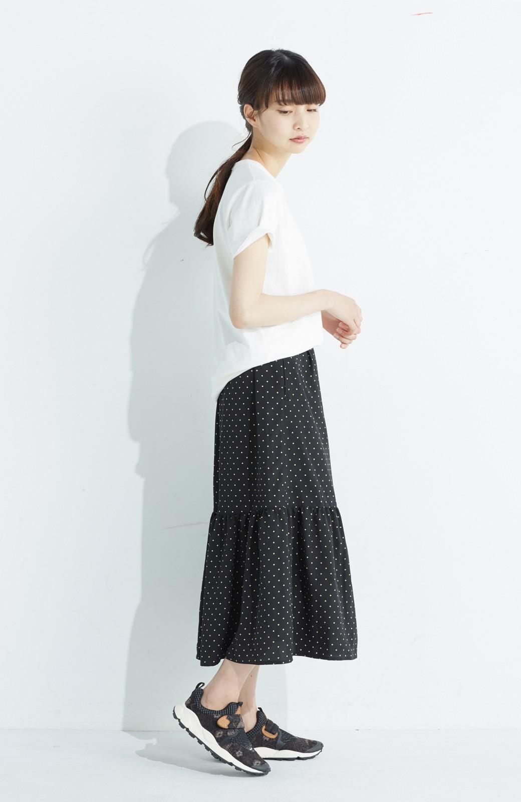 nusy 大人かわいい水玉ギャザースカート <ブラック系その他>の商品写真13