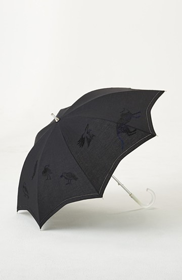 haco! てとひとて SAWAKO NINOMIYA Black bird and cat Parasol <その他>の商品写真