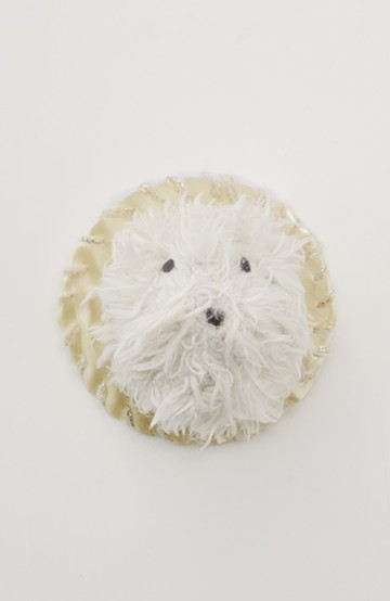haco! てとひとて SAWAKO NINOMIYA 動物たちのブローチ <ホワイト>の商品写真