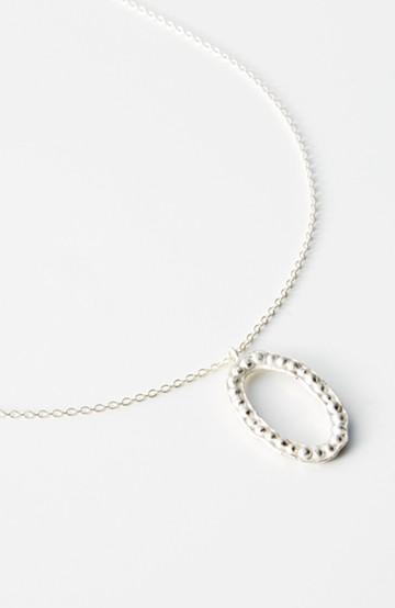 haco! てとひとて YUKO SATO Donut Podネックレス oval silver <シルバー>の商品写真
