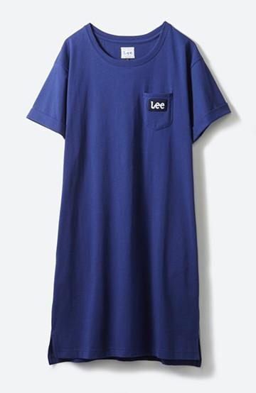 haco! Lee パイルロゴがかわいいTシャツワンピース <ネイビー>の商品写真