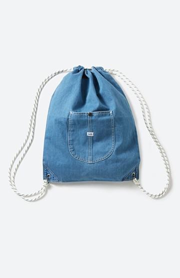 haco! Lee 大きめポケットがかわいいナップサック <インディゴブルー>の商品写真