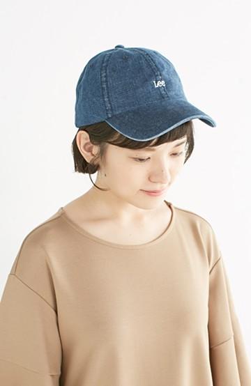 haco! Lee シンプルがかわいい刺しゅうロゴキャップ <インディゴブルー>の商品写真