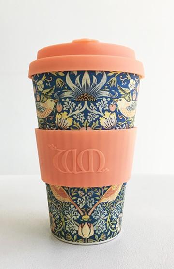 haco! ecoffee cup – William Morris 14oz <サーモンピンク>の商品写真