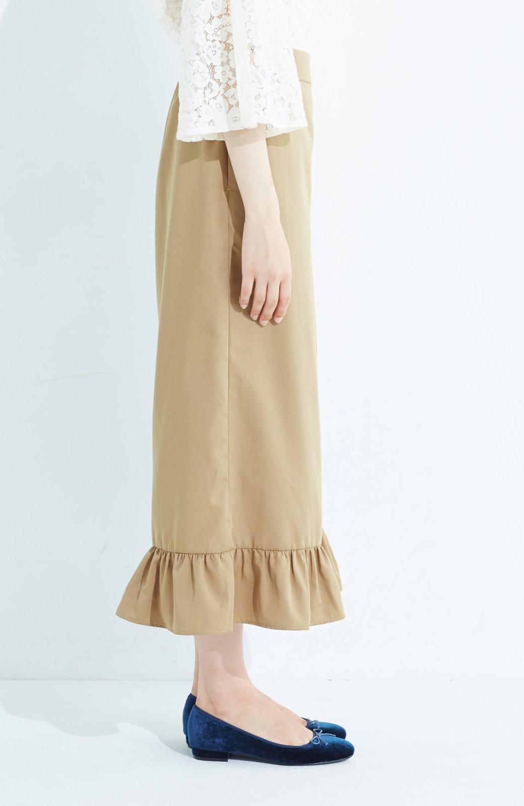 haco! スカート気分で楽しめる 華やかフレアーパンツ <ベージュ>の商品写真4