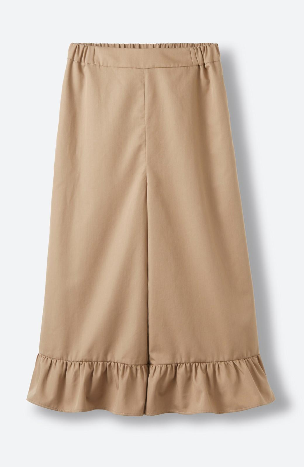 haco! スカート気分で楽しめる 華やかフレアーパンツ <ベージュ>の商品写真2