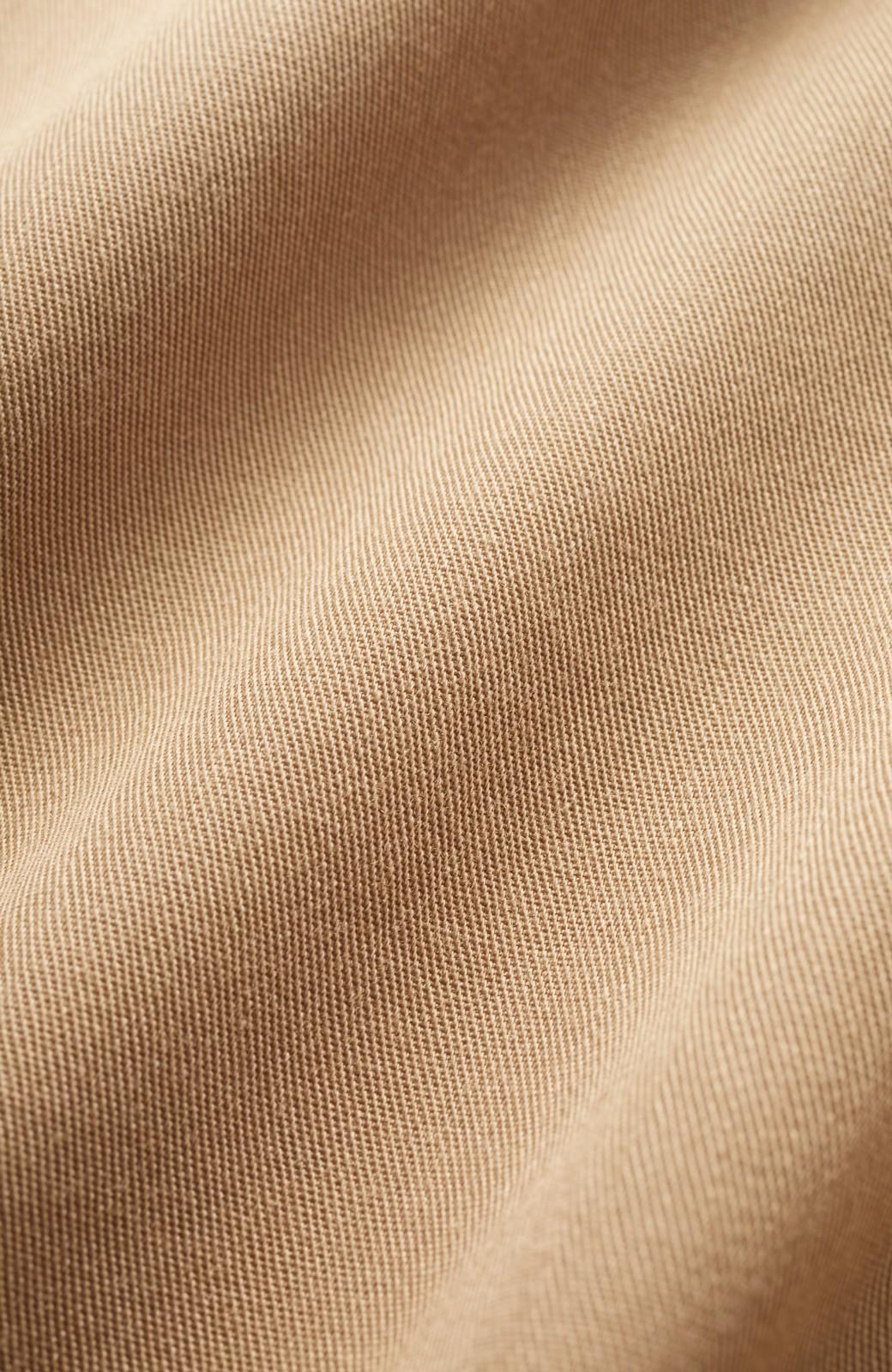 haco! スカート気分で楽しめる 華やかフレアーパンツ <ベージュ>の商品写真3