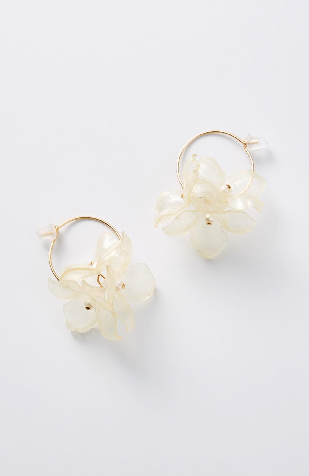 haco! てとひとて SA:RA clear flower フープピアス <ゴールド系その他>の商品写真1
