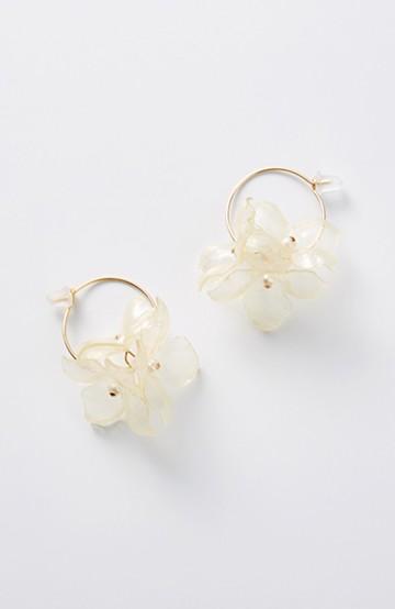 haco! てとひとて SA:RA clear flower フープピアス<ゴールド系その他>の商品写真