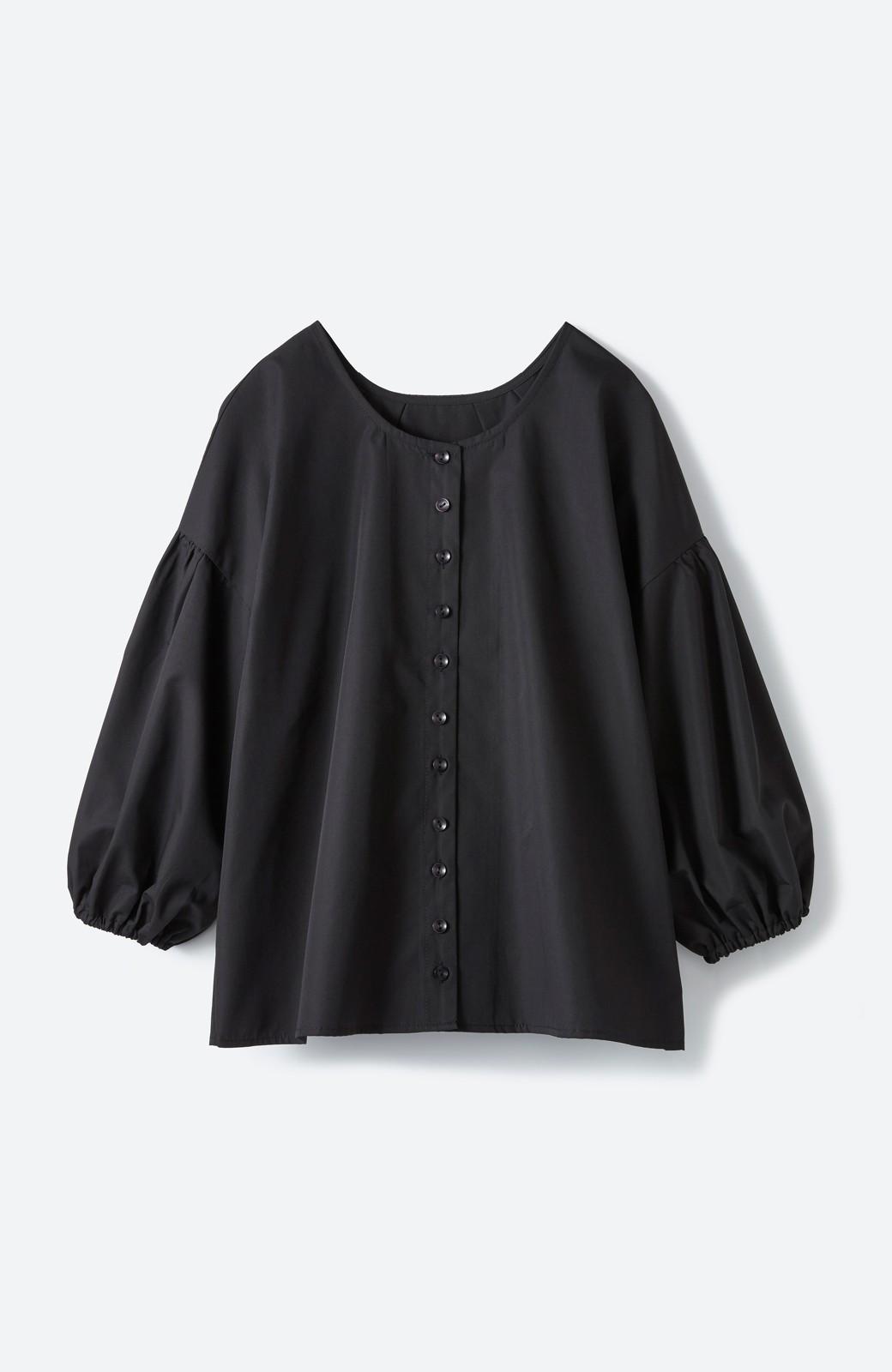 haco! うしろまえ着られるぽんわり袖ブラウス <ブラック>の商品写真1