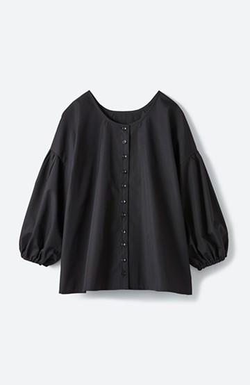 haco! うしろまえ着られるぽんわり袖ブラウス <ブラック>の商品写真