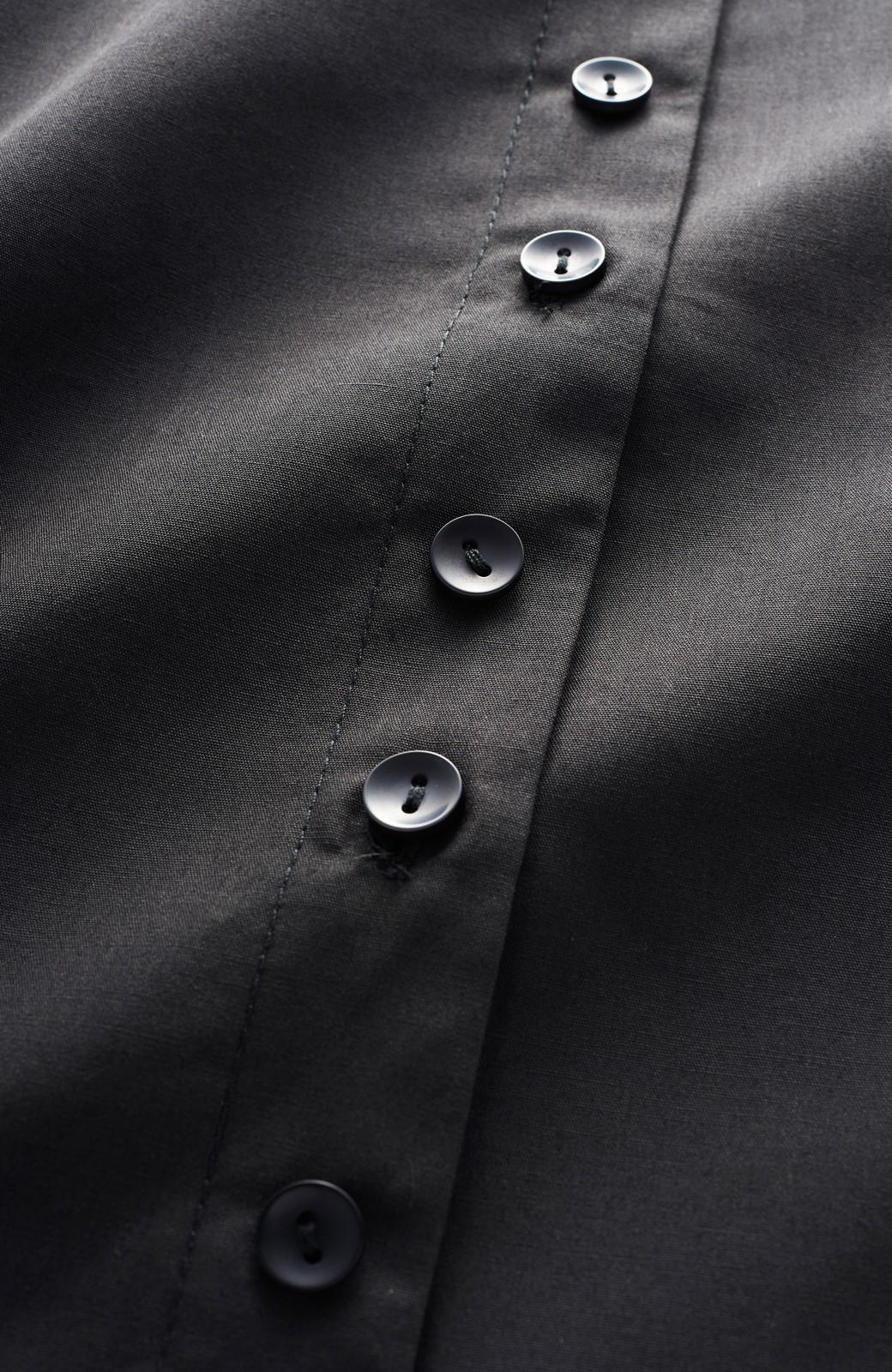 haco! うしろまえ着られるぽんわり袖ブラウス <ブラック>の商品写真3