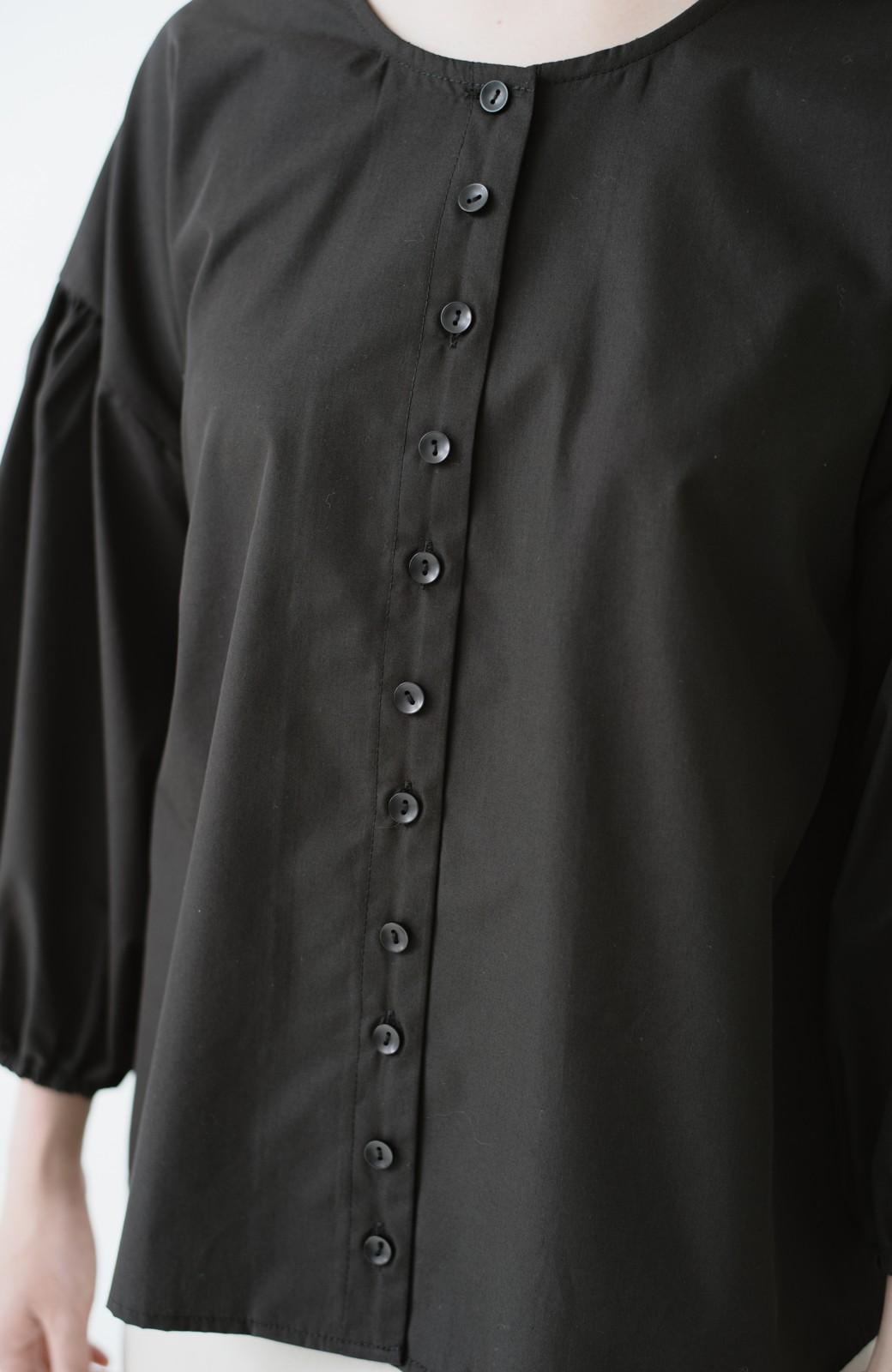 haco! うしろまえ着られるぽんわり袖ブラウス <ブラック>の商品写真15