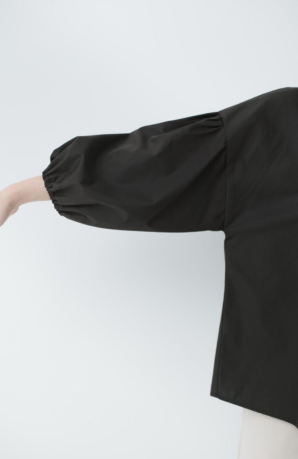 haco! うしろまえ着られるぽんわり袖ブラウス <ブラック>の商品写真16