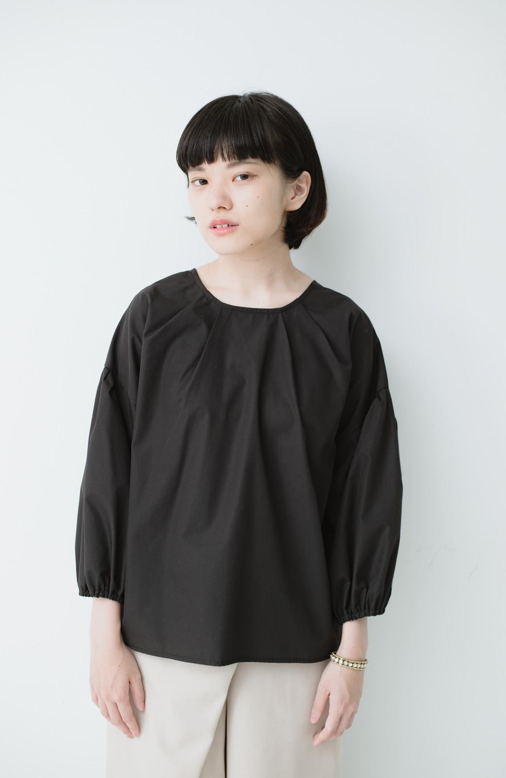 haco! うしろまえ着られるぽんわり袖ブラウス <ブラック>の商品写真8
