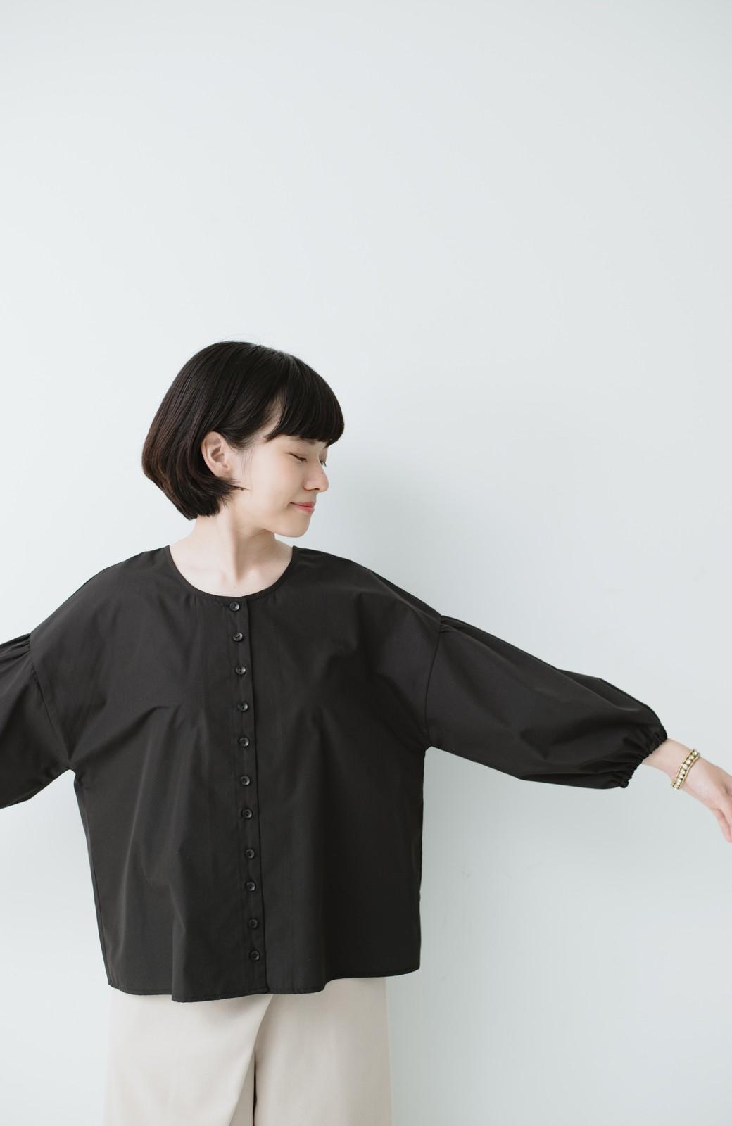 haco! うしろまえ着られるぽんわり袖ブラウス <ブラック>の商品写真9