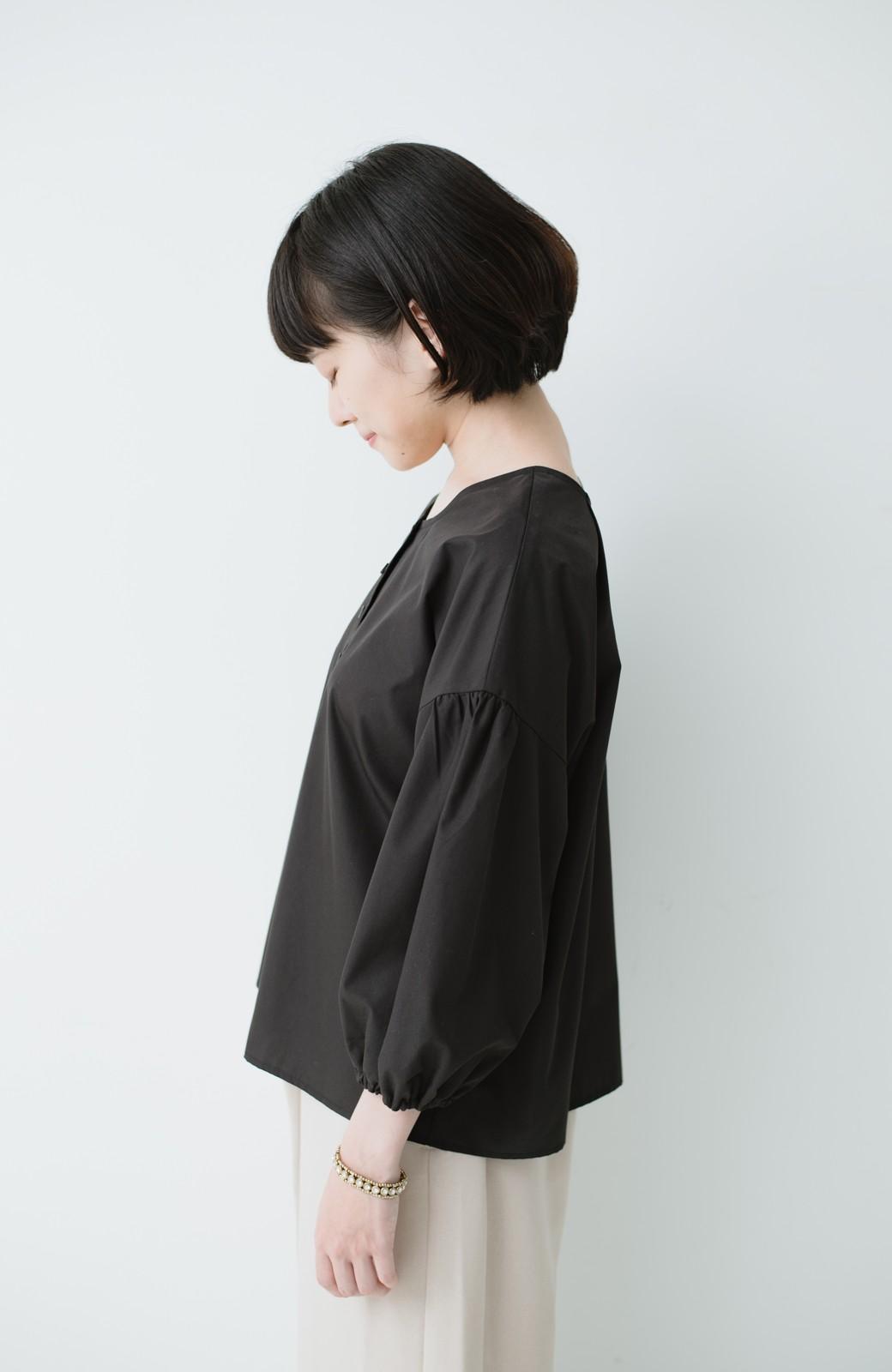 haco! うしろまえ着られるぽんわり袖ブラウス <ブラック>の商品写真10