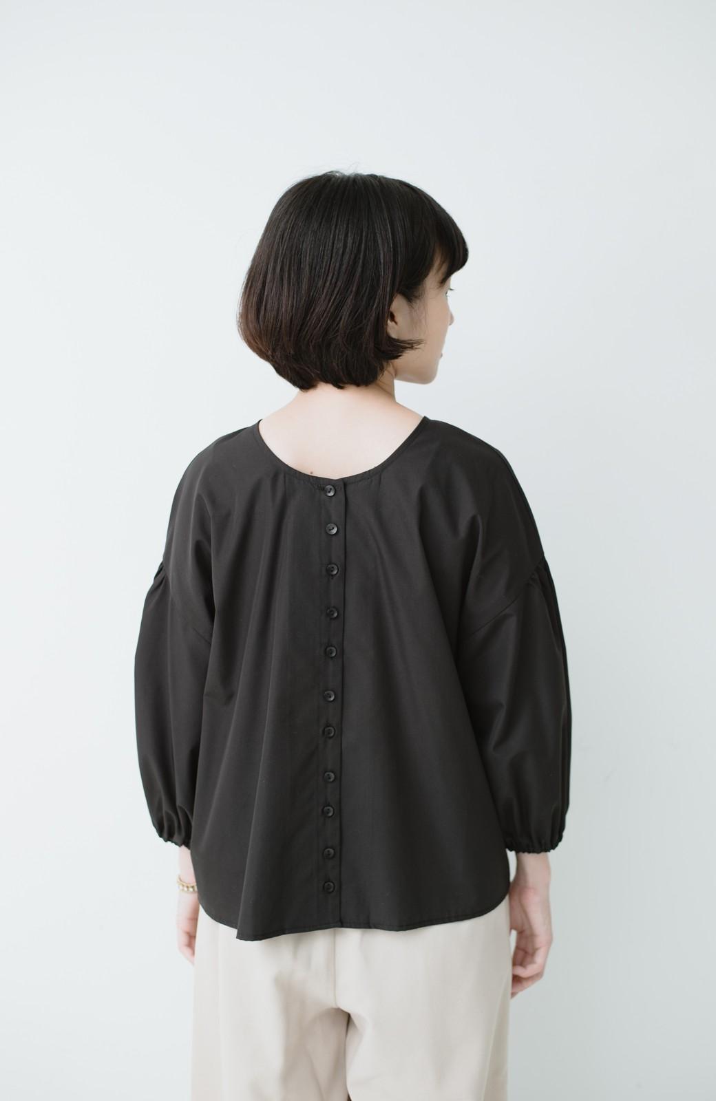 haco! うしろまえ着られるぽんわり袖ブラウス <ブラック>の商品写真13