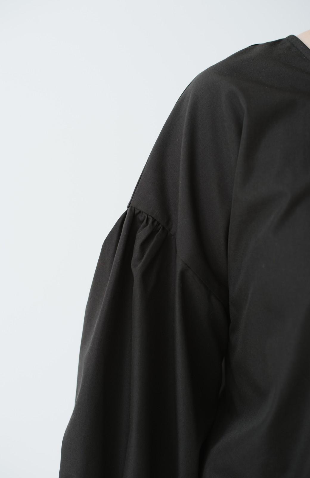 haco! うしろまえ着られるぽんわり袖ブラウス <ブラック>の商品写真14