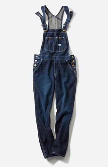 haco! Lee 胸ポケットのテーパードオーバーオール <インディゴブルー>の商品写真